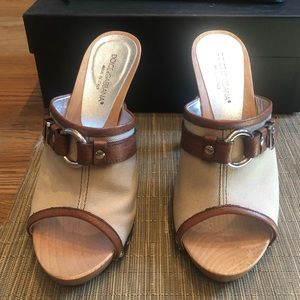 Dolce & Gabbana Sabbia Canvas Heels